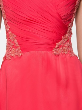 Cap Sleeves A-Line Appliques Long Prom Dress