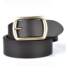 Retro Leisure Metal Pin Buckle Leather Belt for Men