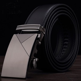Alloy Automatic Buckle Decorated Male Leather Belt