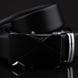 Embossing Leather Men's Belt