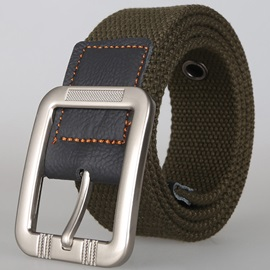 Canvas Pin Buckle Men Belt