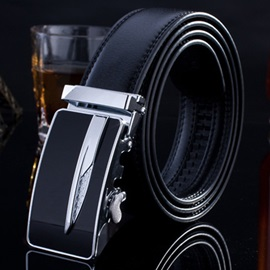 Casual Automatic Buckle Pure Color Men's Belt