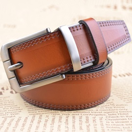 New Style Pin Buckle Thread Men Belt