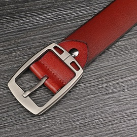 Alloy Pin Buckle Men's Leather Belt