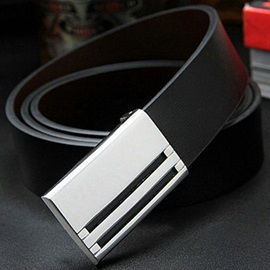 Hot Sale Fashion Alloy Smooth Buckle Men's Belt