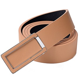 Casual Alloy Smooth Buckle PU Men's Belt