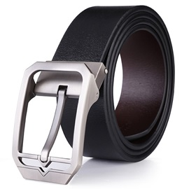 Solid Alloy Pin Buckle Belt for Men
