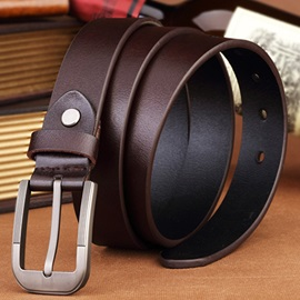 Solid Metal Buckle Casual Belt