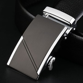 Alloy Automatic Buckle Business Belt