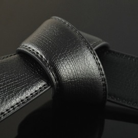 Automatic Buckle Ratchet Slide Holeless Design Belt