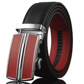 Chic Red Automatic Buckle Men's Belt