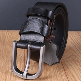 Men's Retro Pin Buckle Leather Belt
