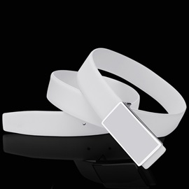 Men's Fashion Smooth Buckle Leather Belt