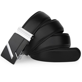 Fashion Leather Ratchet Slide Holeless Men's Belt