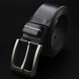 Casual Alloy Pin Buckle Leather Men's Belt