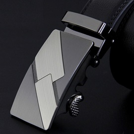 Geometric Automatic Buckle Design Men's Belt