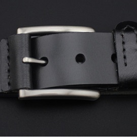 Retro Alloy Pin Buckle Leather Men's Belt