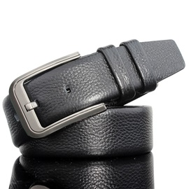 Alloy Pin Buckle Soft Leather Men's Belt