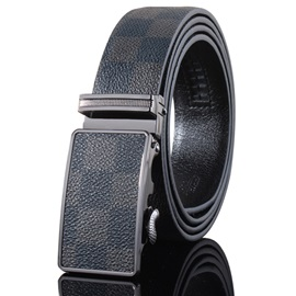 Men's Leather Ratchet Belt with Automatic Buckle