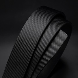 Pure White Metal Smooth Buckle Casual Men's Belts