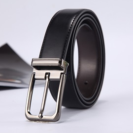 Pin Buckle Metal Leather Simple Men's Belts