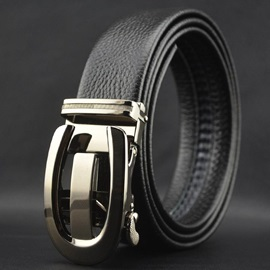 All Match Atutomatic Buckle Men's Genuine Leather Belt
