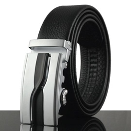 Men's Automatic Buckle Genuine Leather Belt for Men