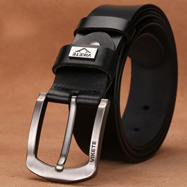 Business Pin Buckle Genuine Leather Men's Belt