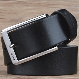 Hot Genuine Leather Pin Buckle Men's Belt