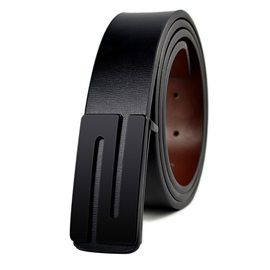 S Shape Smooth Buckle Casual Men's Belt