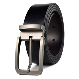Concise Pure Color Alloy Pin Buckle Men's Belt