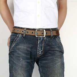 Knitted Pin Buckle Casual Canvas Men's Belts