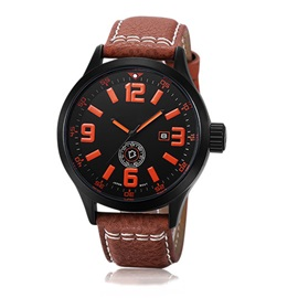 Fashion Round Dial Men's Belt Watch