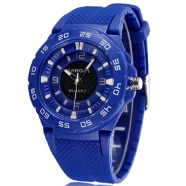 Round Silicon Band Sport Men Watch