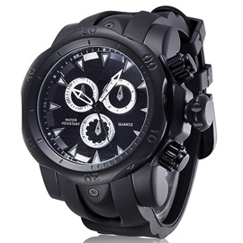 Round Silicon Band Men Watch
