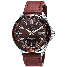 Pu Band Thread Alloy Cover Men Watch