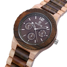 Casual Chronograph Men Wood Watch