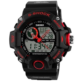 Analog-Digital Waterproof Electronic Men Sport Watch