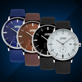 Casual Pin Buckle Alloy Dial Round Watch