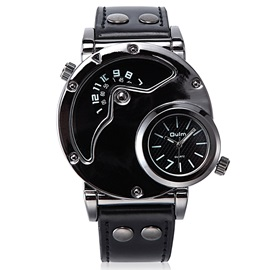 Double Movement Black Surface Men's Watch