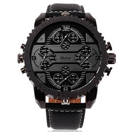 Black Surface Four Movement Men's Watch