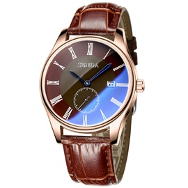 Blue Pointer Design Quartz Movement Men's Watch