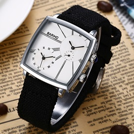 Alloy Square Dial Concise Glass Surface Men's Watch