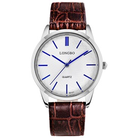 Blue Pointer Design Brown Band Men's Quartz Watch