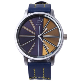 Stripe Surface Design Analog Display Men's Watch