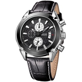 Pin Buckle Multifunctional Dial Men's Quartz Watch