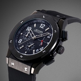 Casual Silicone Band Folding Buckle Men's Watch
