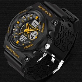 Quartz & Electronic Movement Luminous Design Men's Watch