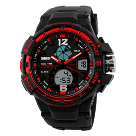 Electronic Movement Large Dial Men's Sports Watch