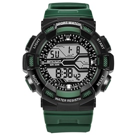 Sports Alarm Luminous Water Resistant Resin Digital Men's Watches